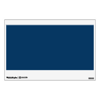Deep Blue Steel Color Trend Background Wall Sticker