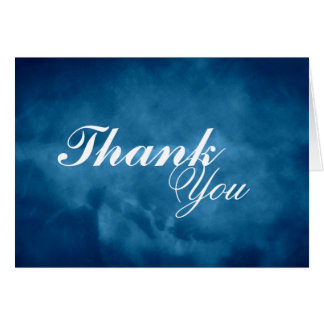 Deep Blue Thank You Card