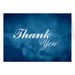 Deep Blue Thank You Greeting Card