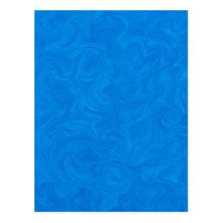 Deep Blue Tonal Abstract Swirled Background Postcard