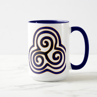 Deep Blue Triskelion Mug