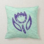 Deep Blue Tulip Pillow