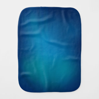 Deep Blue Underwater Glow Baby Burp Cloth