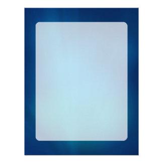 Deep Blue Underwater Glow Letterhead