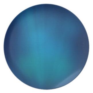 Deep Blue Underwater Glow Plate
