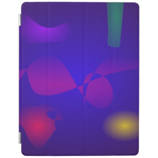Deep Blue Unstable Abstract Composition iPad Cover