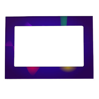 Deep Blue Unstable Abstract Composition Magnetic Frames