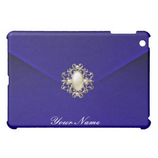 Deep Blue Velvet Pearl Jewel iPad Mini Cases