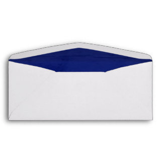 Deep Blue Velvet Textured Lining #10 Envelope