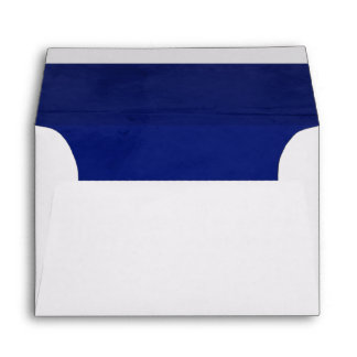 Deep Blue Velvet Textured Lining A6 Envelope