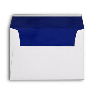 Deep Blue Velvet Textured Lining A7 Envelope