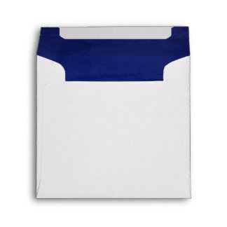 Deep Blue Velvet Textured Lining Square Envelope