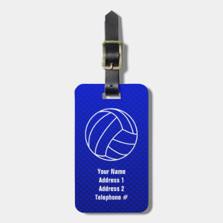 Deep Blue Volleyball Bag Tags