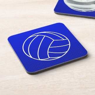 Deep Blue Volleyball Beverage Coaster