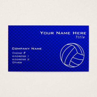 Deep Blue Volleyball Business Card