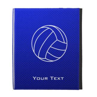 Deep Blue Volleyball iPad Folio Cases