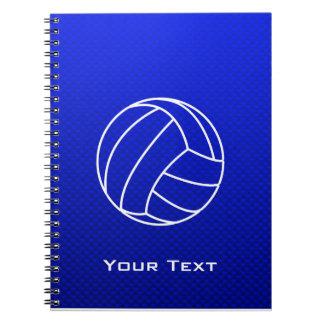 Deep Blue Volleyball Notebook