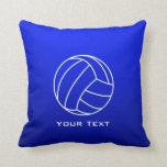 Deep Blue Volleyball Pillow