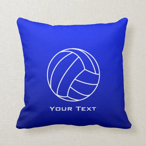 Deep Blue Volleyball Pillows
