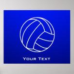 Deep Blue Volleyball Poster