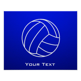 Deep Blue Volleyball Poster