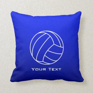 Deep Blue Volleyball Throw Pillow