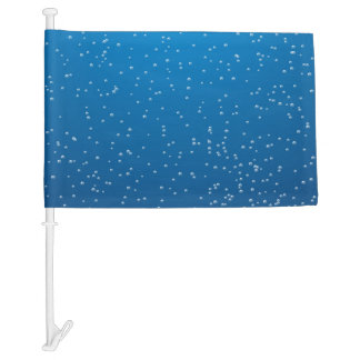 Deep Blue Water and Tiny Bubbles Car Flag
