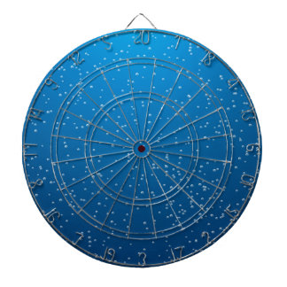 Deep Blue Water and TIny Bubbles Dart Boards
