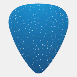 Deep Blue Water and Tiny Bubbles Guitar Pick