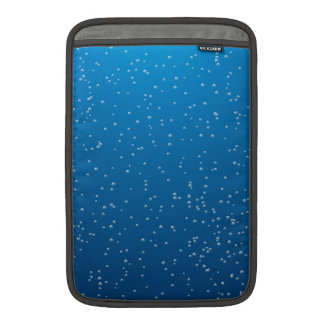 Deep Blue Water and TIny Bubbles MacBook Sleeves