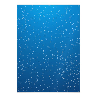 Deep Blue Water and Tiny Bubbles Magnetic Card