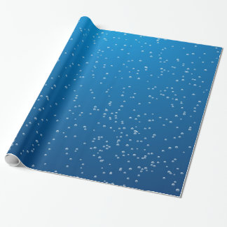 Deep Blue Water and TIny Bubbles Wrapping Paper