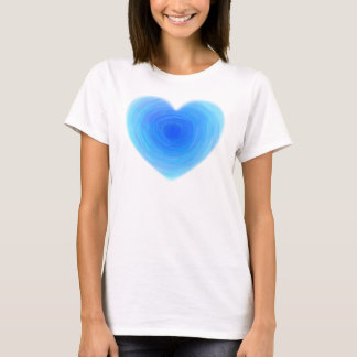 Deep Blue Water Heart - Love in Shades of Blue T-Shirt