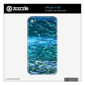 Deep blue waters skins for the iPhone 4