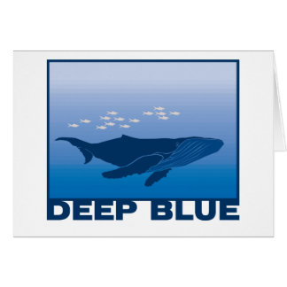 Deep Blue Whale Card