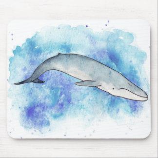Deep blue whale mouse pad