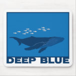 Deep Blue Whale Mousepads