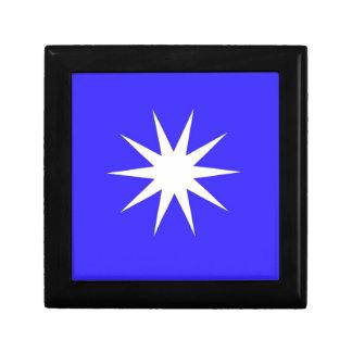 Deep Blue White Star Gift Box