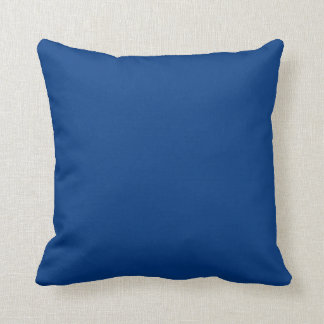 Deep Blue With a Touch of Red Floral Throw Pillows