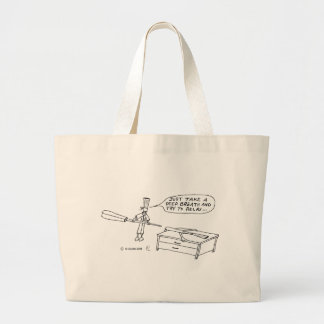 Deep Breath Large Tote Bag