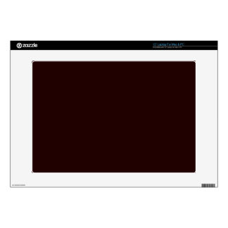 DEEP BROWN (solid color) ~ Laptop Decal