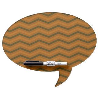 Deep Brown Zig Zag Dry-Erase Board