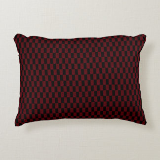 Deep Burgundy Red and Black Woven Pattern Accent Pillow