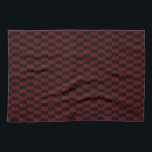 """Deep Burgundy Red and Black Woven Pattern Hand Towel<br><div class=""""desc"""">Get the checkerboard feel with this woven look pattern in deep burgundy red and black.</div>"""