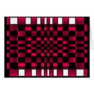 Deep Burgundy Wine Red Optical Illusion Fun Card