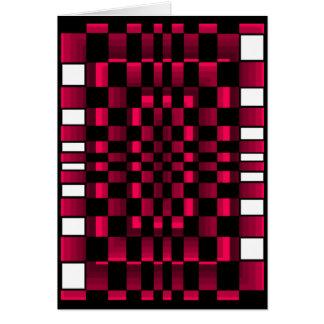 Deep Burgundy Wine Red Optical Illusion Fun Cards