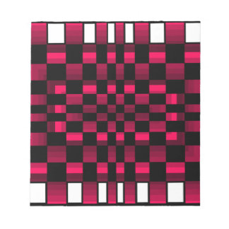 Deep Burgundy Wine Red Optical Illusion Fun Notepad