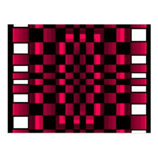 Deep Burgundy Wine Red Optical Illusion Fun Post Card