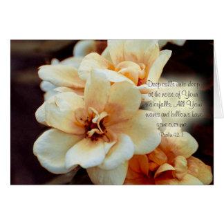 """Deep calls unto deep...""  Psalm 42: 7 Greeting Card"