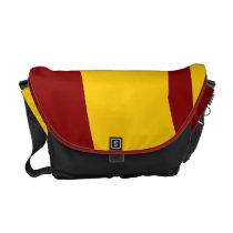 Deep Cardinal and Gold Messenger Bag